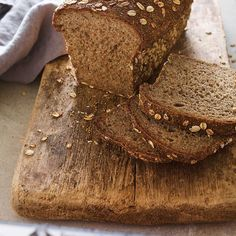 This recipe for homemade bread puts the multi in multi-grain! This DIY version includes chia seeds, quinoa, flaxseed, and more. Multi Grain Bread, Healthy Food Habits, Chia, Multigrain, Brunch, Bread And Pastries, Bowl Of Soup, Salted Butter, Freshly Baked