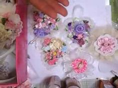 DIY Altered Shabby Chic / Vintage Christmas Baubles / Balls Tree Decoration - YouTube