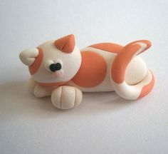 Orange Cat Polymer Clay Creation by bdborld on Etsy