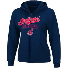 Cleveland Indians Women's Enjoy the Moment Full-Zip Hooded Fleece by Majestic Athletic - MLB.com Shop