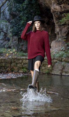 Πλεκτή μπλούζα ζιβαγκάκι σε μπορντώ χρώμα onesize Winter, Winter Time, Winter Fashion