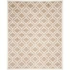 Amherst Wheat/Beige 9 ft. x 12 ft. Indoor/Outdoor Rectangle Area Rug