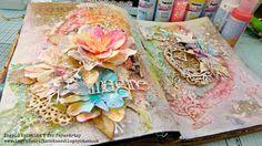 Art journaling by Ingrid Kristina V for PaperArtsy... #mixedmedia #art #artjournal #craft #paperartsy #ingridkristinav