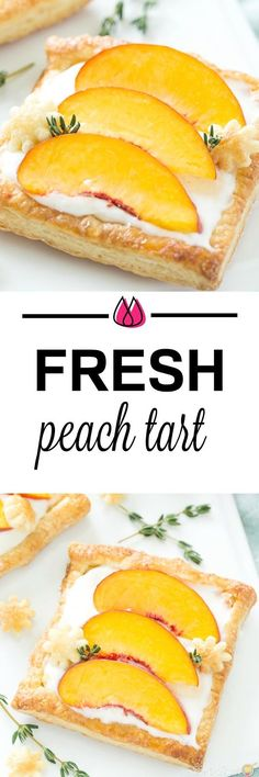 This peach tart recipe is bursting with fresh peaches, a creamy filling on a delicate puffed pastry!