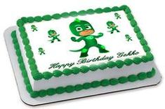 PJ Masks Gekko Edible Birthday Cake Topper OR Cupcake Topper, Decor - Edible Prints On Cake (Edible Cake &Cupcake Topper)