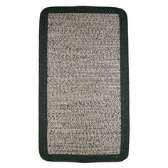Thorndike Mills Town Crier Green Heather with Green Solids Indoor/Outdoor Rug Rug Size: 9' x 12'
