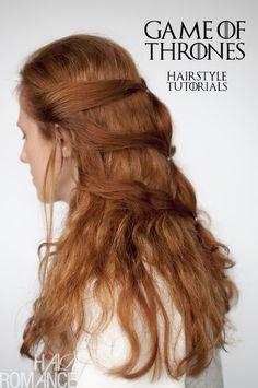 Hair Romance - Game of Thrones hairstyle tutorials - Daenerys Targaryen Khaleesi hairstyle