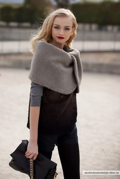 wrap  and red lips