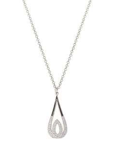 """This Frost's Candlelight necklace has been stunningly-designed to bring eye-catching flair to your ensemble Miniscule silver finish pin points line the upper portion of the main teardrop with an antiqued background, the lower half and all of the inner flame are encrusted with clear cubic zirconia stones. Chain length is 19"""" in length Handcrafted silver, rich in western heritage, is the very core of Montana Silversmiths. Our skilled craftsmen are the finest in the western industry, crafting…"""