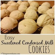 Sweetened Condensed Milk Cookies , This easy cookie recipe is made with sweetened condensed milk and is a blank slate for customizing! Condensed Milk Desserts, Condensed Milk Cookies, Sweet Condensed Milk, Recipes With Condensed Milk, Easy Cookie Recipes, Sweet Recipes, Baking Recipes, Baking Ideas, Köstliche Desserts