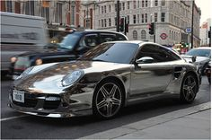 chromed out porsche.