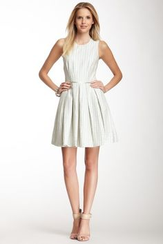 Sleeveless Full Skirt Embroidered Dress by Cynthia Rowley on @HauteLook