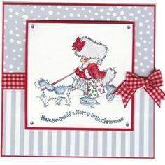 christmas lili of the valley handmade card idea