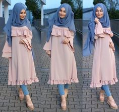 Modest Hijab Fashion for Latest Jeans Outfit – Girls Hijab Style & Hijab Fashion Ideas Hijab Style Dress, Hijab Chic, Abaya Fashion, Modest Fashion, Fashion Outfits, Muslim Women Fashion, Islamic Fashion, Kleidung Design, Modele Hijab