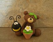 *POLYMER CLAY ~ Bear-Bee-Hive.