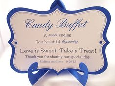 Hey, I found this really awesome Etsy listing at http://www.etsy.com/listing/161729819/candy-buffet-sign