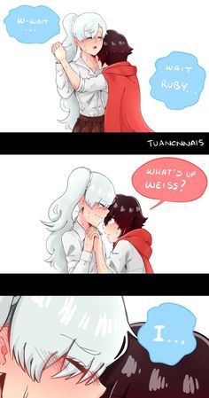 Anonymous said: Could you make a comic where ruby is being controlled by Salem and Weiss tries to talk to her and free her if the curse but then ruby hurts her and feels real sad? Rwby Anime, Rwby Fanart, Anime Girlxgirl, Anime Art, Hermes House Band, Rwby Crossover, Ymir And Christa, Rwby White Rose, Rwby Weiss