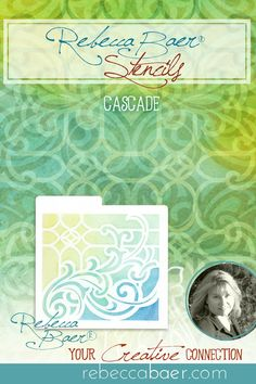 """Graceful swirling waves combine with craftsman-style mullions. This stencil can be mirrored to cover an expanded area. Designed and manufactured in the USA. Three sizes are available: ST-602Cascade 