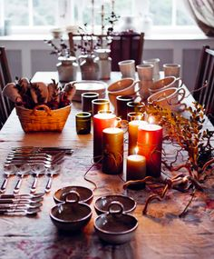 i am excessively fond of a cottage Hygge, Scandinavian Design, Tablescapes, Table Settings, Cottage, Candles, Entertaining, Table Decorations, Furniture