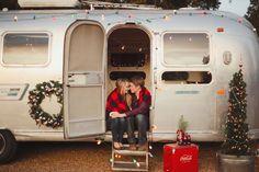 Airstream Christmas engagement shoot!  www.cedarwoodweddings.com