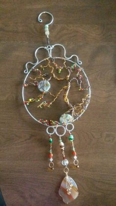 Wire wrapped beaded Tree of life sun catcher