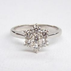 dazzling diamonds - handmade ring at www.maryenright.com @ME_MaryEnright