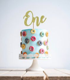 One Cake Topper, one cake topper, first birthday cake topper, Gold Glitter party decorations, cursive topper 21st Birthday Cake Toppers, 70th Birthday Cake, Birthday Cupcakes, Wedding Cake Toppers, Third Birthday, Oh Baby Cake Topper, Gold Cake Topper, Glitter Party Decorations, Wedding Cake Decorations