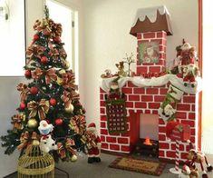 Diy Christmas Fireplace, Gingerbread Christmas Decor, Office Christmas Decorations, Diy Diwali Decorations, Diy Christmas Garland, Christmas Nativity Scene, Easy Christmas Crafts, Christmas Mantels, Christmas Mood