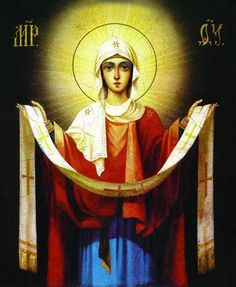 The protection of the Most Holy Mother of God Mama Mary, Holy Mary, Holy Cross, Orthodox Icons, Mother Mary, Virgin Mary, Our Lady, Christian Faith, Holy Spirit