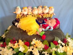 Snow White and the Seven Dwarfs  Grandaughter at age 3 months  To see all scened photos go to You Tube tinasauter paytonpic