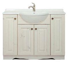 mobile bagno arte povera cm 105 con top in marmo   mobile bagno ... - Arredo Bagno Caravaggio