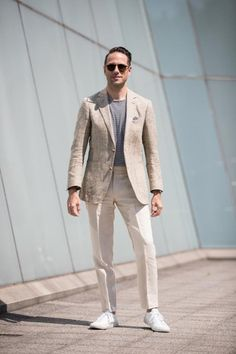 8dcdf464a3f Men s Outfit Inspiration for Late Summer - cash in on the lighter coloured  suits before winter steals away the colour!