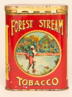 Forest and Stream Tobacco Tin - Manifest Auctions