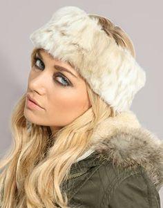 fur hairband