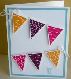 Pennant Parade Thank U by stampin'studio - Cards and Paper Crafts at Splitcoaststampers