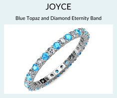 Eternity Bands, Blue Topaz, Jewelry Stores, Jewelry Collection, Take That, White Gold, Gemstones, Sparkles, Accessories