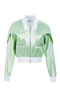 Shop Bonded Satin Bomber Jacket by Prabal Gurung for Preorder on Moda Operandi