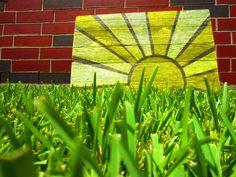 Sun Burst Rustic Sign. $28.00, via Etsy.