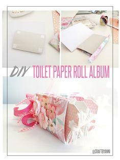 ✄ DIY TOILET PAPER ROLL ALBUM #scrapbook #scrapbooking #DIY #toiletpaperrollalbum