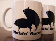Hey, I found this really awesome Etsy listing at https://www.etsy.com/listing/79919494/makin-bacon-coffee-mug-with-pigs-making