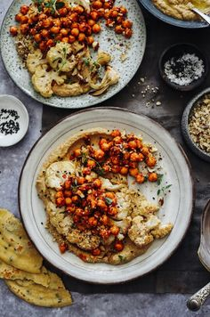 Roast Cauliflower, Baba Ganoush, Spiced Harissa Chickpeas & Dukka – Rebel Recipes – Foods and Drinks Veggie Recipes, Vegetarian Recipes, Cooking Recipes, Healthy Recipes, Meze Recipes, Ramen Recipes, Punch Recipes, Easy Recipes, Healthy Food