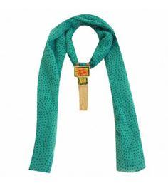 Sea Green Chiffon Jewelled Necklace Stole