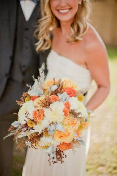 Fall wedding colors - LOVE them