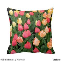 Tulip Field Pillow
