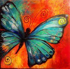 Resultado de imagen para pinturas al oleo de mariposas                                                                                                                                                      Más