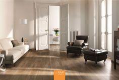 Imitation parquet floor tiles in 85 impressive ideas Timber Tiles, Wooden Floor Tiles, Wood Look Tile, Wall And Floor Tiles, Deco Design, Tile Design, Wooden Room, Tapis Design, Parquet Flooring