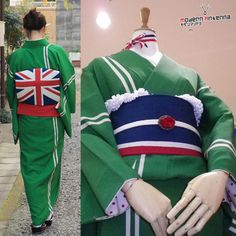 British flag obi. Interesting.