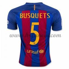 Barcelona Nogometni Dresovi 2016-17 Busquets 5 Domaći Dres Komplet