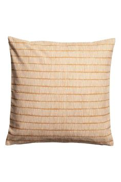 Slub weave cushion cover - Camel - Home All | H&M GB 1