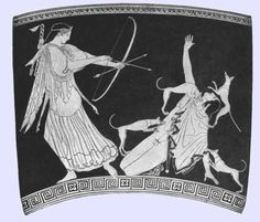 myth of actaeon greek vase - Google Search